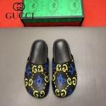 Gucci鞋子-009-7 專櫃紀念Gucci+Disney聯名款萌寵原版牛皮平底拖鞋