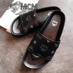 MCM鞋子-001 夏季新款經典專供canvascoated皮料平底拖鞋沙灘鞋