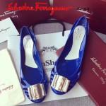 Ferragamo鞋子-001-5 菲拉格慕人氣經典款鞋面金屬扣配塑膠材質平底果凍鞋