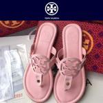 TORY BURCH鞋子-001-2 托里伯奇經典時尚進口牛皮平底夾趾拖鞋