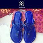 TORY BURCH鞋子-001-5 托里伯奇經典時尚進口牛皮平底夾趾拖鞋