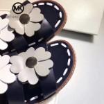 MICHAEL KORS鞋子-001 春夏最新楊冪同款花朵進口牛皮鞋面平跟涼鞋羅馬鞋