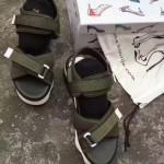 Sue comma Bonnie-001 明星同款進口帆布配皮運動厚底涼鞋