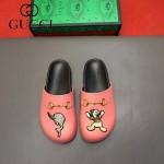 Gucci鞋子-009-3 專櫃紀念Gucci+Disney聯名款萌寵原版牛皮平底拖鞋