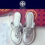 TORY BURCH鞋子-001-3 托里伯奇經典時尚進口牛皮平底夾趾拖鞋