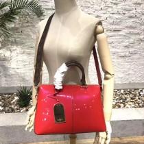 LV-M54640-2 原版漆皮小牛皮LV字母印花帆布手柄與肩帶TOTE MIROIR 手袋