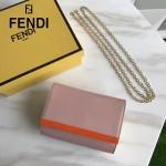FENDI 2305-3 高貴女士之選粉色原版皮迷你單肩手拿包晚宴包