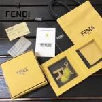 FENDI-024-11 專櫃新品ABCLICK系列原單R字母金屬搭配皮草掛飾可當首飾