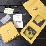 FENDI-024-10 專櫃新品ABCLICK系列原單O字母金屬搭配皮草掛飾可當首飾