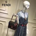 FENDI-024-9 專櫃新品ABCLICK系列原單Y字母金屬搭配皮草掛飾可當首飾