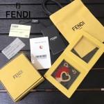 FENDI-024-2 專櫃新品ABCLICK系列原單愛心金屬搭配皮草掛飾可當首飾