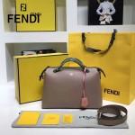FENDI 149S-12 專櫃新品DÉGRADÉ三色拼色原版小牛皮手提單肩包波斯頓包