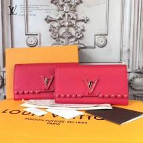 LV-M64102-2 高級時裝花邊設計原型精美褶邊Capucines手袋相配套錢夾