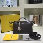 FENDI 149S-4 專櫃新品DÉGRADÉ三色拼色原版小牛皮手提單肩包波斯頓包