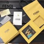 FENDI-024-4 專櫃新品ABCLICK系列原單W字母金屬搭配皮草掛飾可當首飾