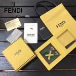 FENDI-024-3 專櫃新品ABCLICK系列原單X字母金屬搭配皮草掛飾可當首飾