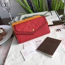 LV-64803 壓紋磨面皮革高端時尚個性2折錢夾