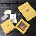 FENDI-024-7 專櫃新品ABCLICK系列原單V字母金屬搭配皮草掛飾可當首飾