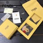 FENDI-024 專櫃新品ABCLICK系列原單愛心氣泡金屬搭配皮草掛飾可當首飾