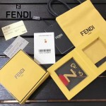 FENDI-024-5 專櫃新品ABCLICK系列原單Z字母金屬搭配皮草掛飾可當首飾