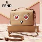 FENDI 8786 專櫃限量版ROUND EYES原單多彩貼飾搭配金屬鉚釘手提單肩包馬鞍包