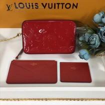 LV-64058-4 原版壓紋漆面Monogram皮革可拆卸卡片夾與拉鏈零錢袋隨心相配相機包