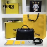 FENDI 149S-5 專櫃新品DÉGRADÉ黑色原版小牛皮手提單肩包波斯頓包
