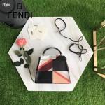 FENDI 210S 春夏時裝秀ALCANTARA多色拼接原版小牛皮手提單肩包