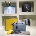 FENDI 149S-9 專櫃新品DÉGRADÉ三色拼色原版小牛皮手提單肩包波斯頓包