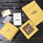 FENDI-024-16 專櫃新品ABCLICK系列原單L字母金屬搭配皮草掛飾可當首飾