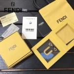 FENDI-024-8 專櫃新品ABCLICK系列原單U字母金屬搭配皮草掛飾可當首飾