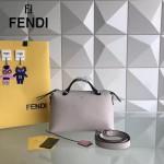 FENDI 149S-8 專櫃新品DÉGRADÉ三色拼色原版小牛皮手提單肩包波斯頓包
