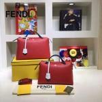 FENDI 149S-11 專櫃新品DÉGRADÉ三色拼色原版小牛皮手提單肩包波斯頓包