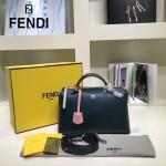 FENDI 149S-10 專櫃新品DÉGRADÉ三色拼色原版小牛皮手提單肩包波斯頓包