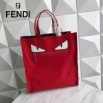 FENDI 246 專櫃最新款BAG BUGS小怪獸紅色原版皮手提單肩購物袋