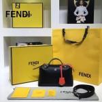 FENDI 149S-6 專櫃新品DÉGRADÉ三色拼色原版小牛皮手提單肩包波斯頓包