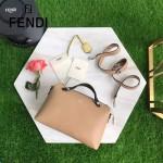 FENDI 149S-2 專櫃新品DÉGRADÉ三色拼色原版小牛皮手提單肩包波斯頓包