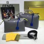 FENDI 149S-7 專櫃新品DÉGRADÉ三色拼色原版小牛皮手提單肩包波斯頓包