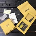 FENDI-024-18 專櫃新品ABCLICK系列原單F字母金屬搭配皮草掛飾可當首飾