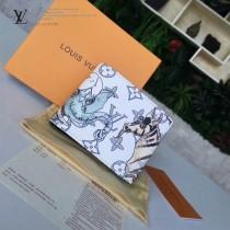 LV-M62607 原單著名藝術家Chapman兄弟設計斑馬與大象印花 Multiple錢夾