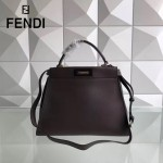 FENDI 5108M-3 簡約商務風拼色原版小牛皮電鍍五金手提單肩包