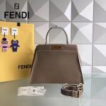 FENDI 5108M-4 簡約商務風原版小牛皮電鍍五金手提單肩包