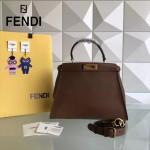 FENDI 5108M 簡約商務風原版小牛皮電鍍五金手提單肩包