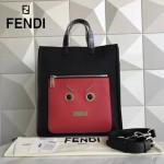 FENDI 8253 專櫃新品無語表情原版尼龍面料配皮手提單肩包購物袋