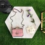 FENDI 8765-3 春夏時裝秀DOUBLE MICRO BAGUETTE雙色原版皮花朵裝飾手提單肩包