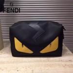 FENDI 306 輕巧實用小怪獸眼睛原單防水面料搭配牛皮化妝包收納包