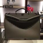 FENDI 8516-3 都市型男軍綠色原版牛皮手工縫線鉚釘裝飾手提單肩包