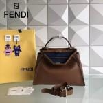 FENDI 5108M-5 簡約商務風原版小牛皮電鍍五金手提單肩包