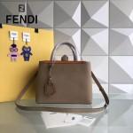 FENDI 253A-6 專櫃早春新款裸色原版西班牙牛皮琺瑯裝飾條手提單肩包