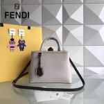 FENDI 253A-9 專櫃早春新款拼色原版西班牙牛皮琺瑯裝飾條手提單肩包